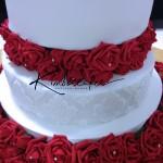 Rose Bed Wedding Cake