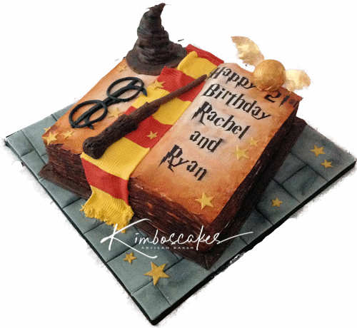 Remarkable Harry Potter Cake Kimboscakes Personalised Birthday Cards Rectzonderlifede